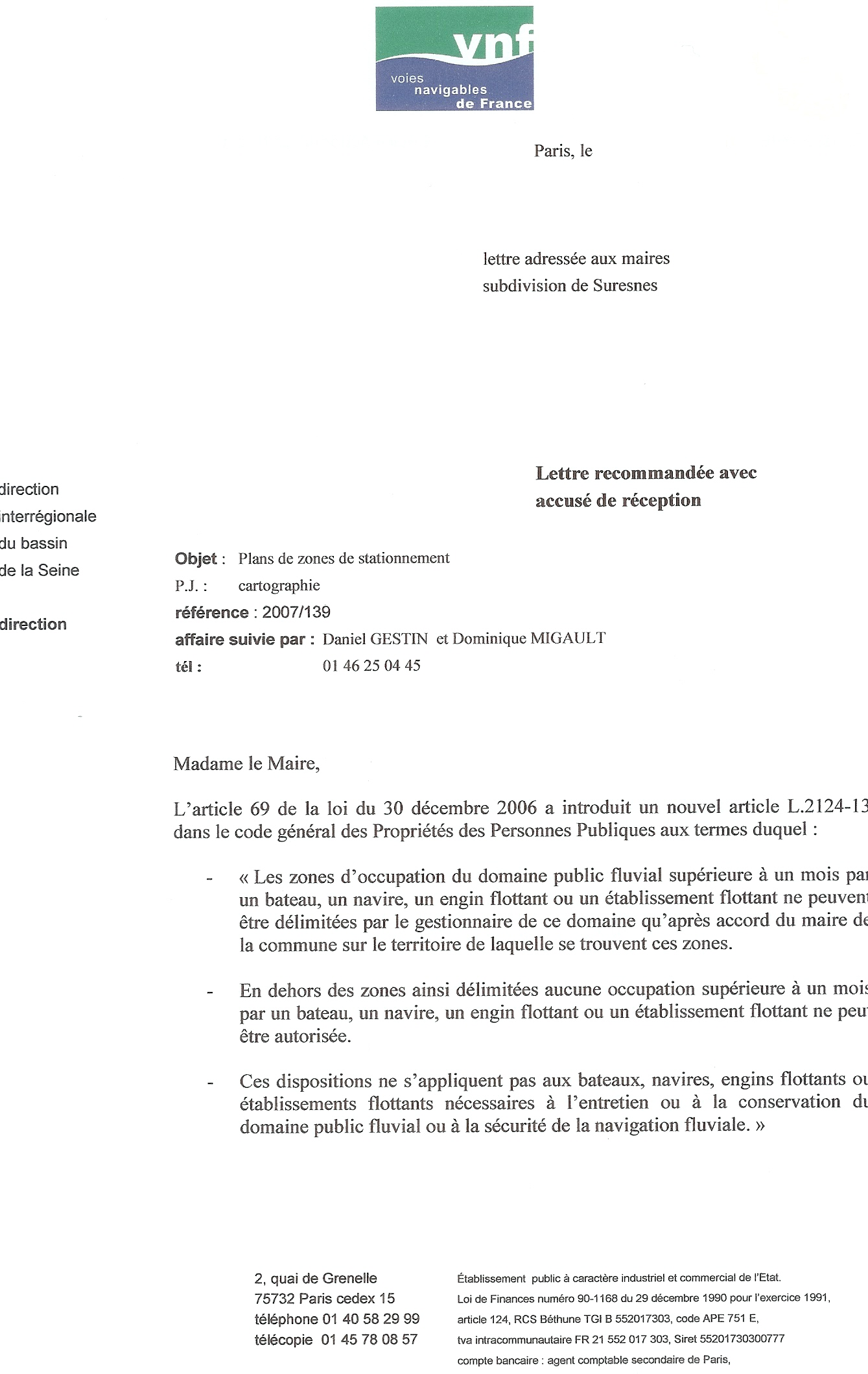 Doc lettre autorisation de paiement a un tiers - Vente de domaine public ...